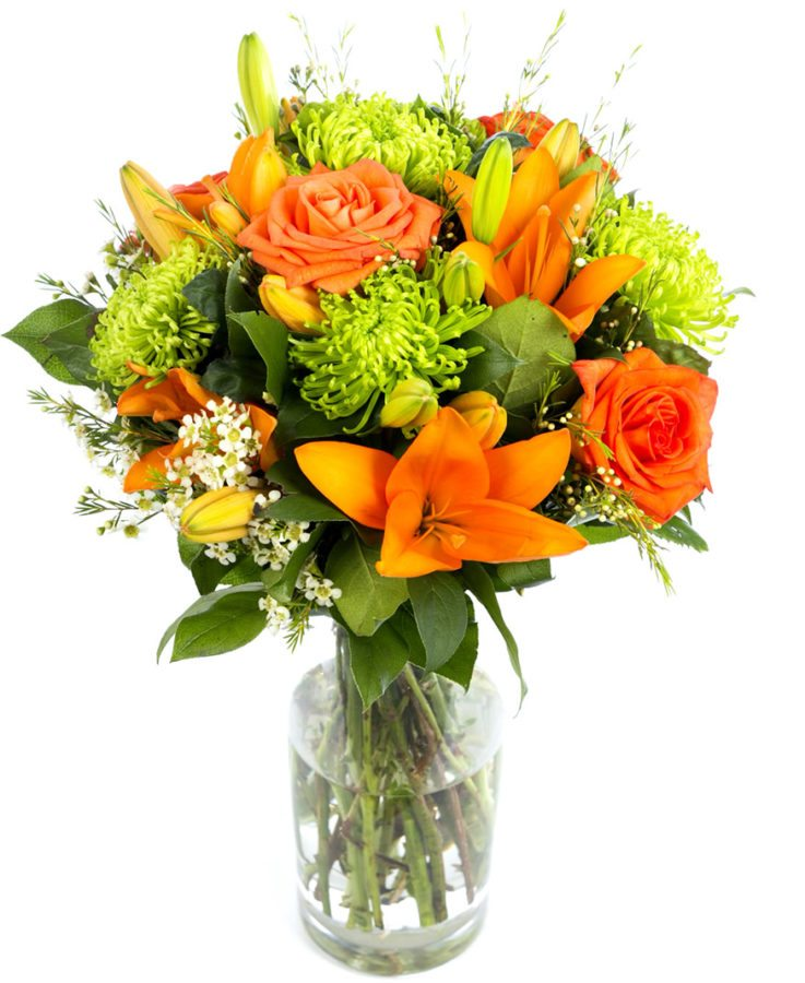 Bouquet - Lime Greens & Oranges