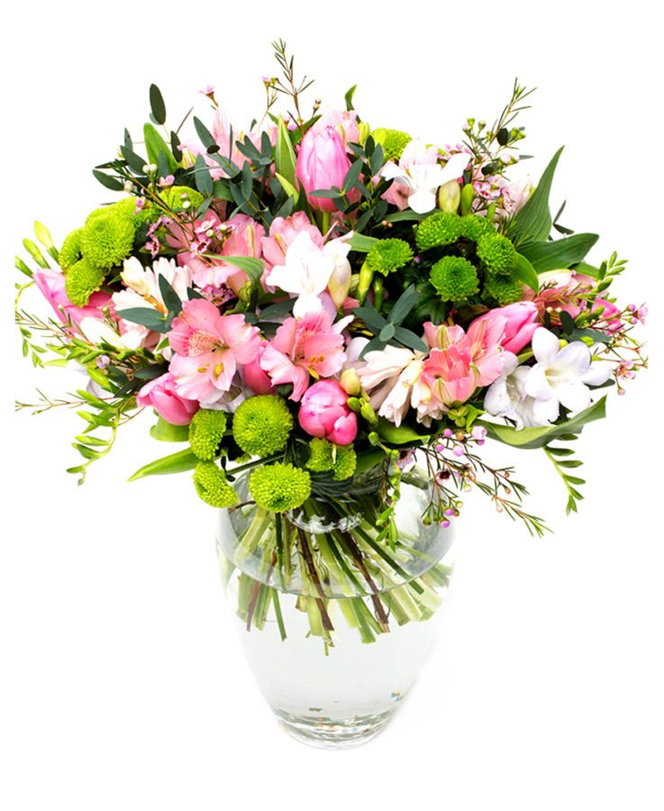 Weekly Flower Delivery – pink and lime green