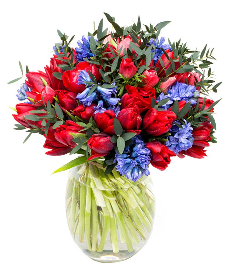 Spring Bouquet - Blues & Reds