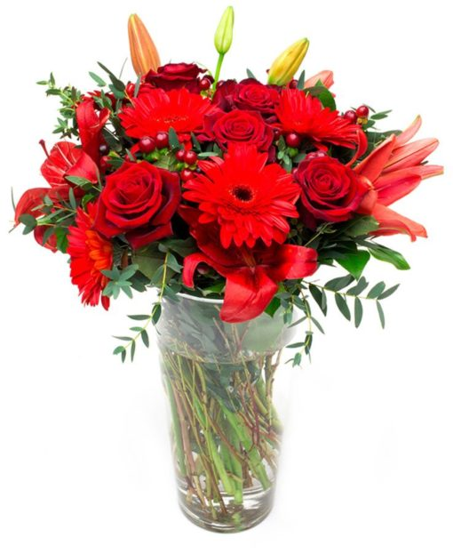 Valentines Day Bouquet, Valentines Day Flowers, Red Roses