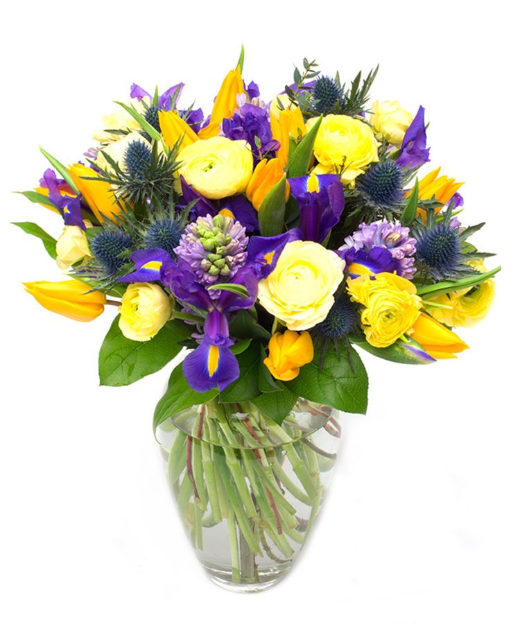 Yellow Bouquet - Spring Purples & Yellows