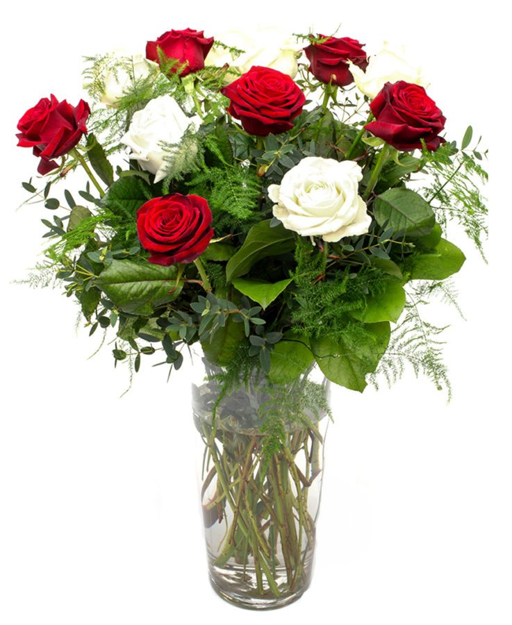 Weekly Flower Delivery – red and white