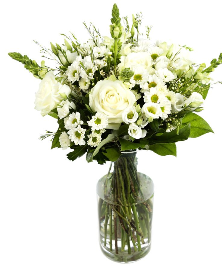 White Subscription Flowers