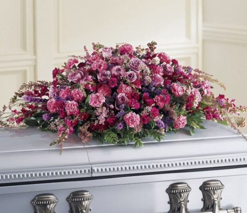 Pink Roses Casket Spray